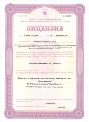 лицензия от 20 февраля 2014г.